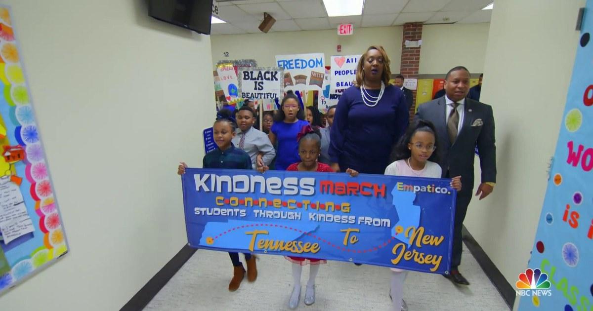 Zwei Schulen arbeiten zusammen, um die rassische Verständnis auf MLK day