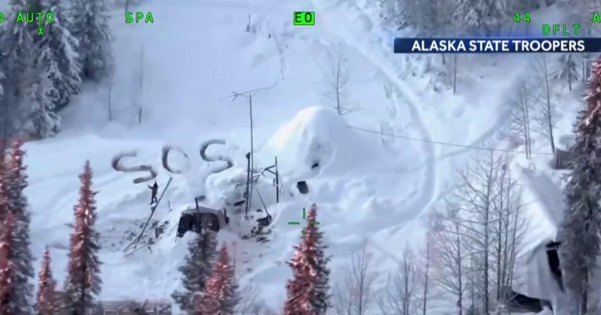 アラスカの人の救出後、約20日間以上の鎖の大自然の中