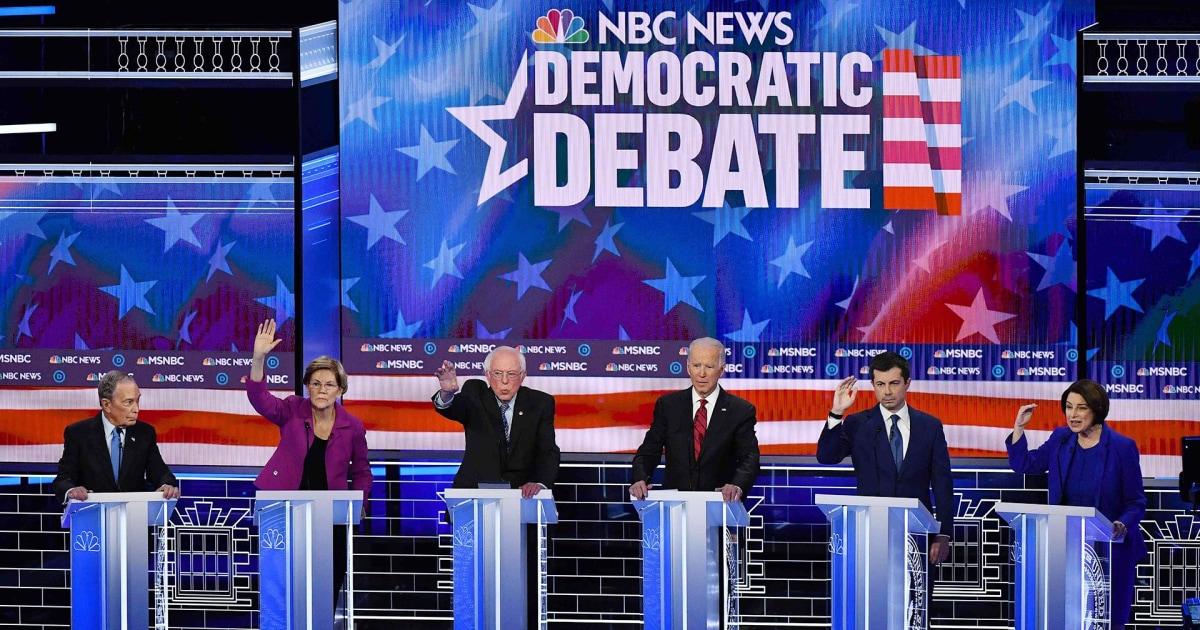 Sehen Sie sich das volle NBC News/MSNBC Demokratische Debatte in Las Vegas