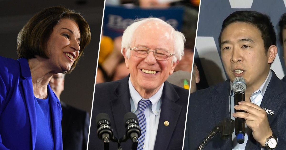 Watch 2020 Democratic candidates react to New Hampshire ...