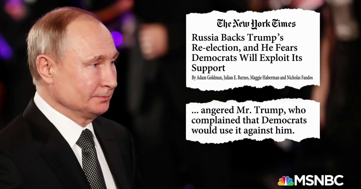 NYT: Trump didn't want Congress briefed on Russia supporting his re-election