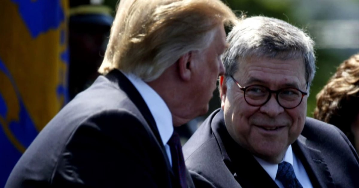 Legal experts question Barr's independence from Trump