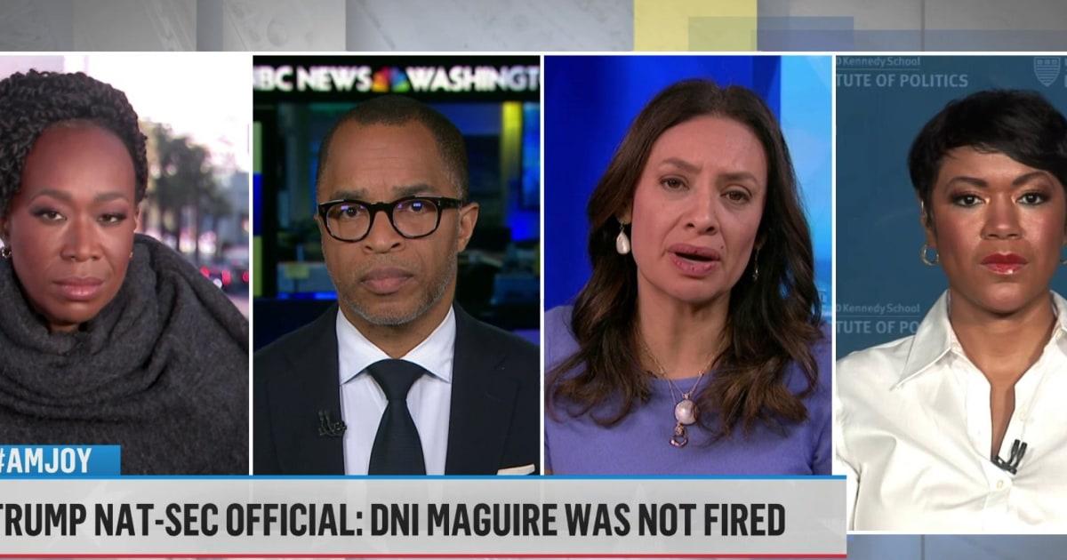 Trump accused of 'politicizing public servants' over DNI firing