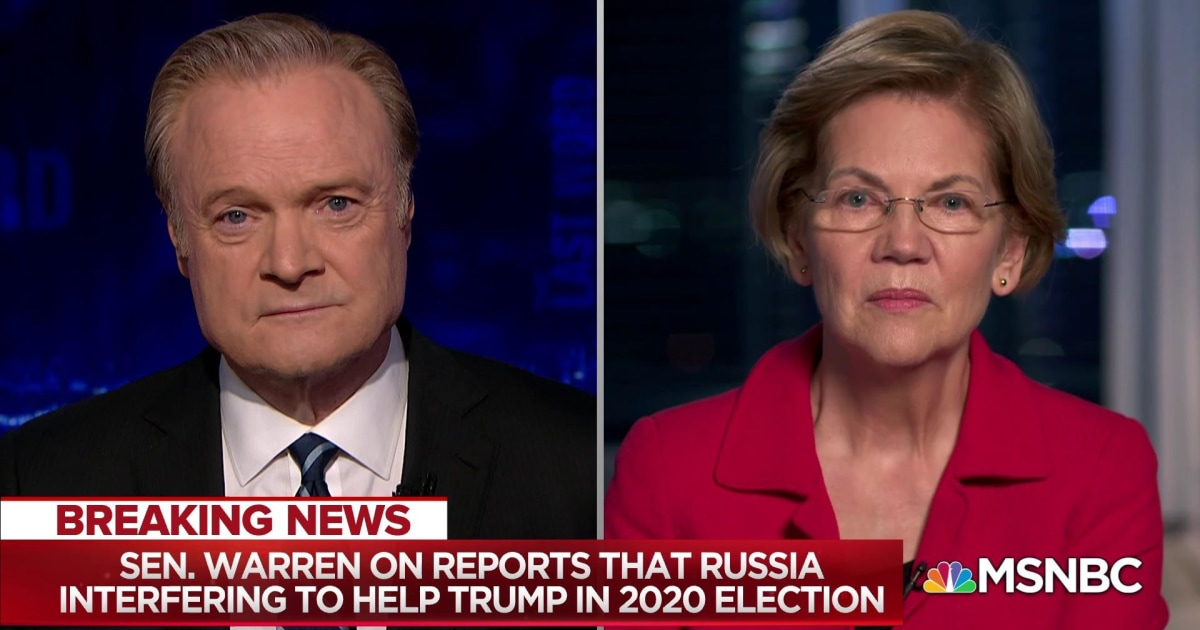 Sen. Warren on reports that Russia is interfering to help Trump in 2020 election