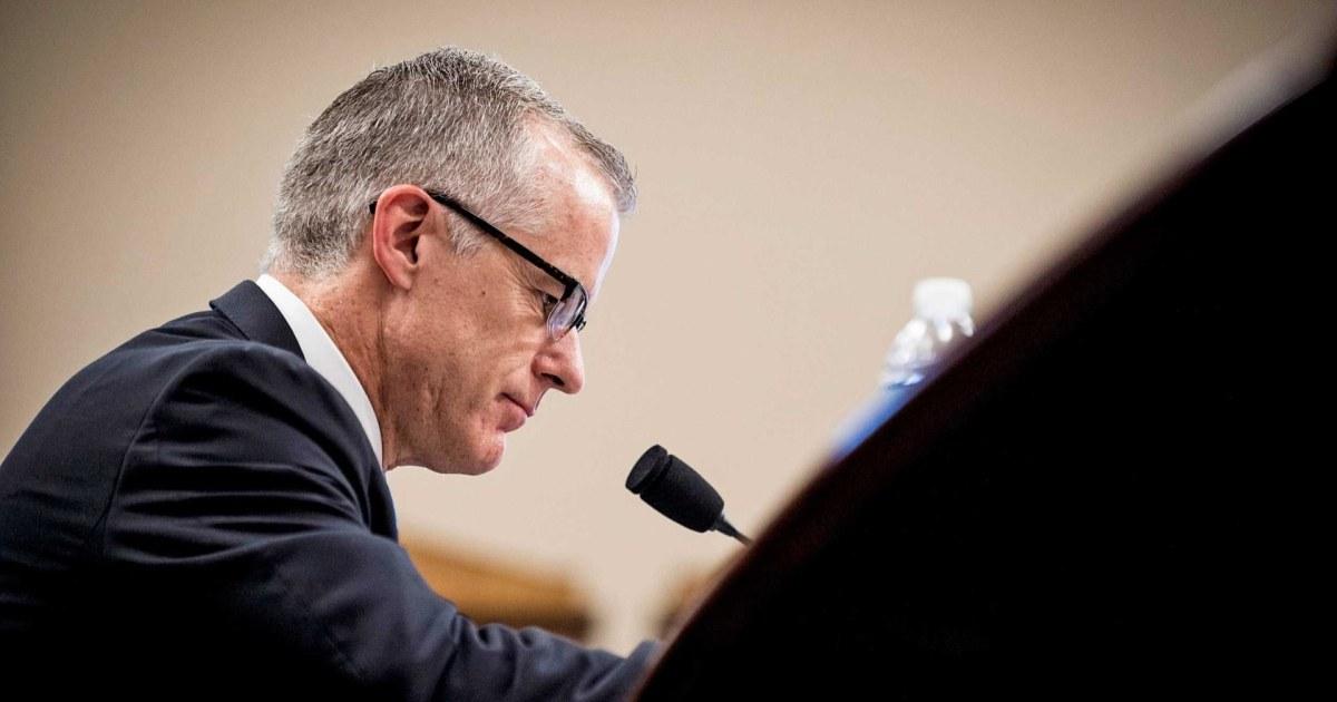 DOJ declines to prosecute former FBI Deputy Director Andrew McCabe