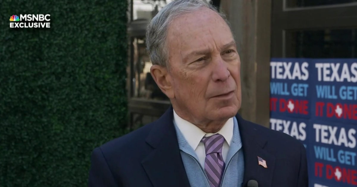 Bloomberg: I believe Sanders would lose to Trump