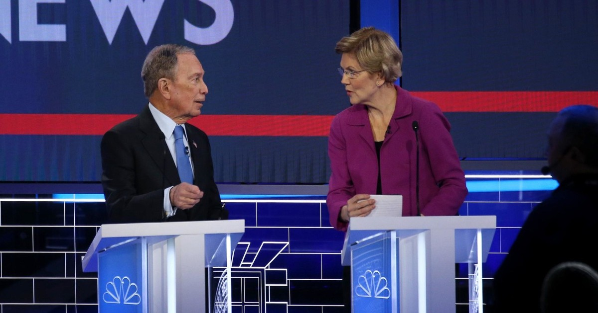 After rough exchange, Bloomberg, Warren had cordial conversation during commercial break