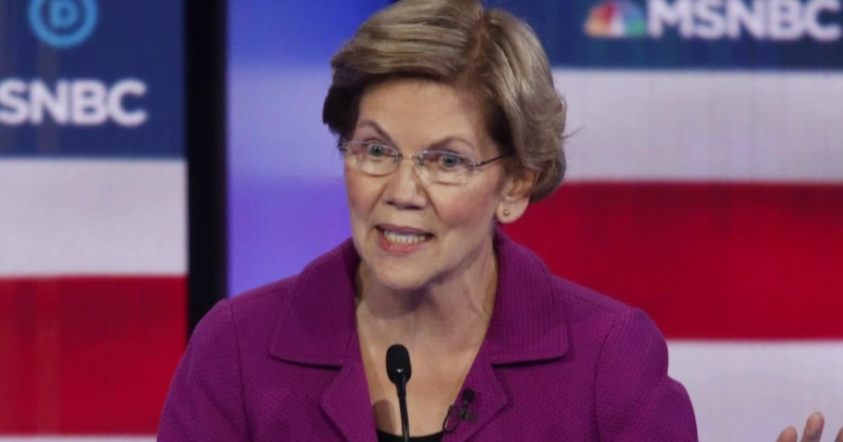 Warren leads with attack on Bloomberg