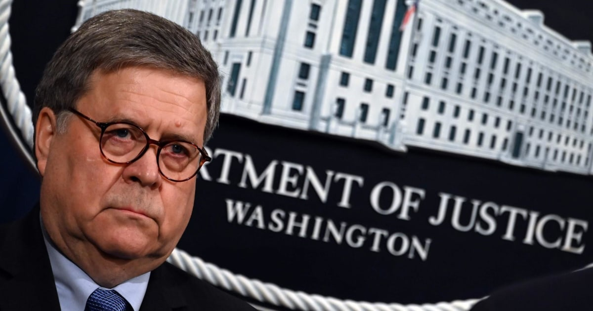 Over 1,100 former Justice Department officials call for Barr to resign