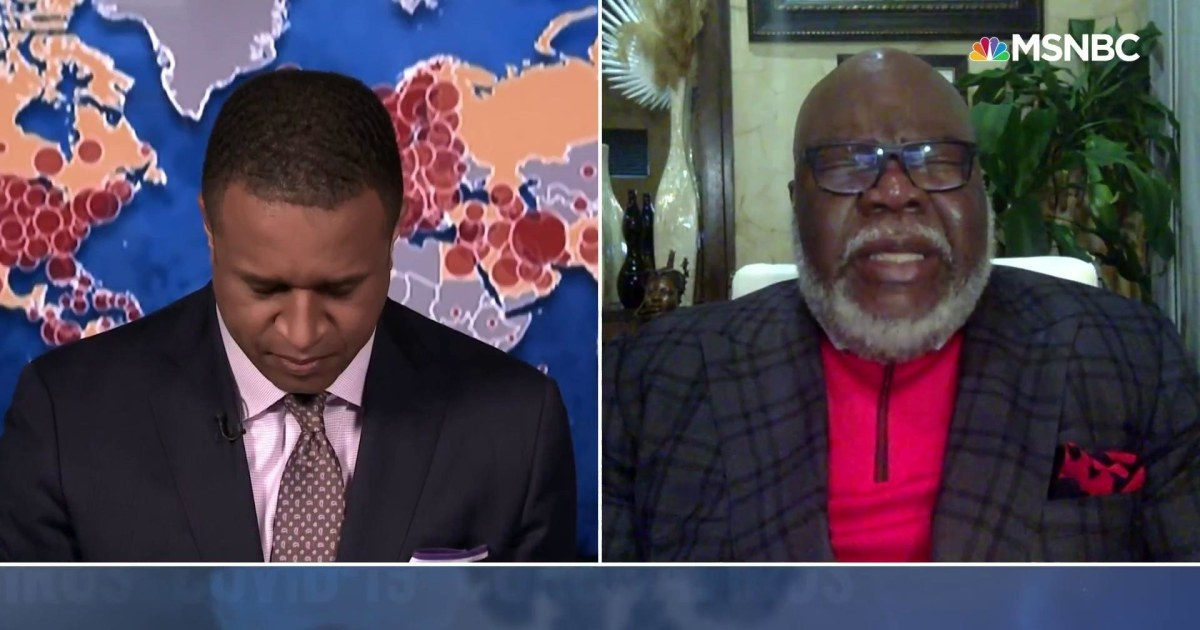 WATCH: Bishop T.D. Jakes Leads MSNBC Broadcast in Prayer Amid Coronavirus Pandemic