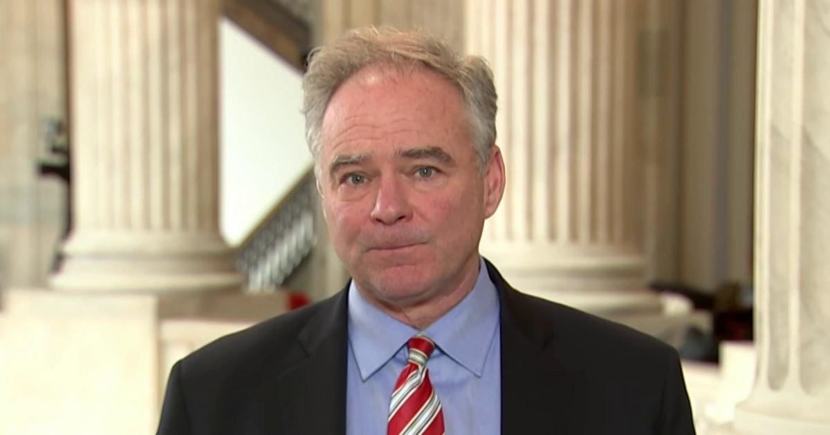 Sen. Kaine: coronavirus relief 'will pass the Senate today' with 'unanimous Democratic support'