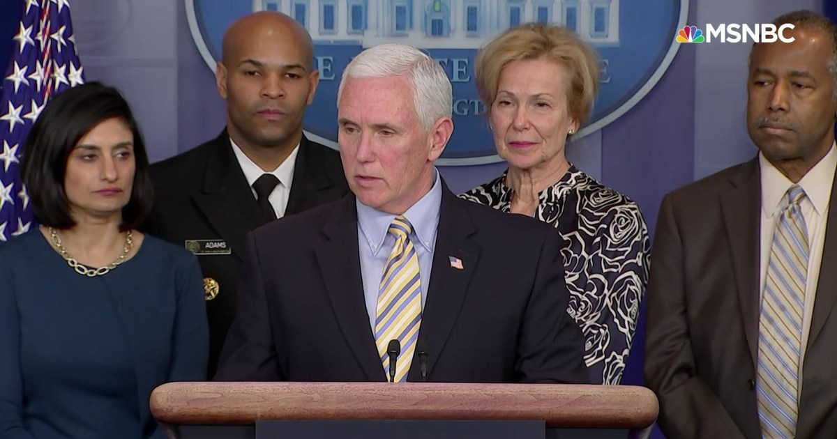 Pence: US will expand European travel ban to include the UK and Ireland