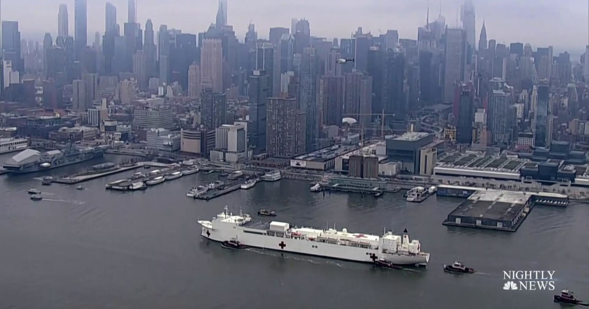 U.S. Navy ship arrives in New York as state's coronavirus death toll surpasses 1,000