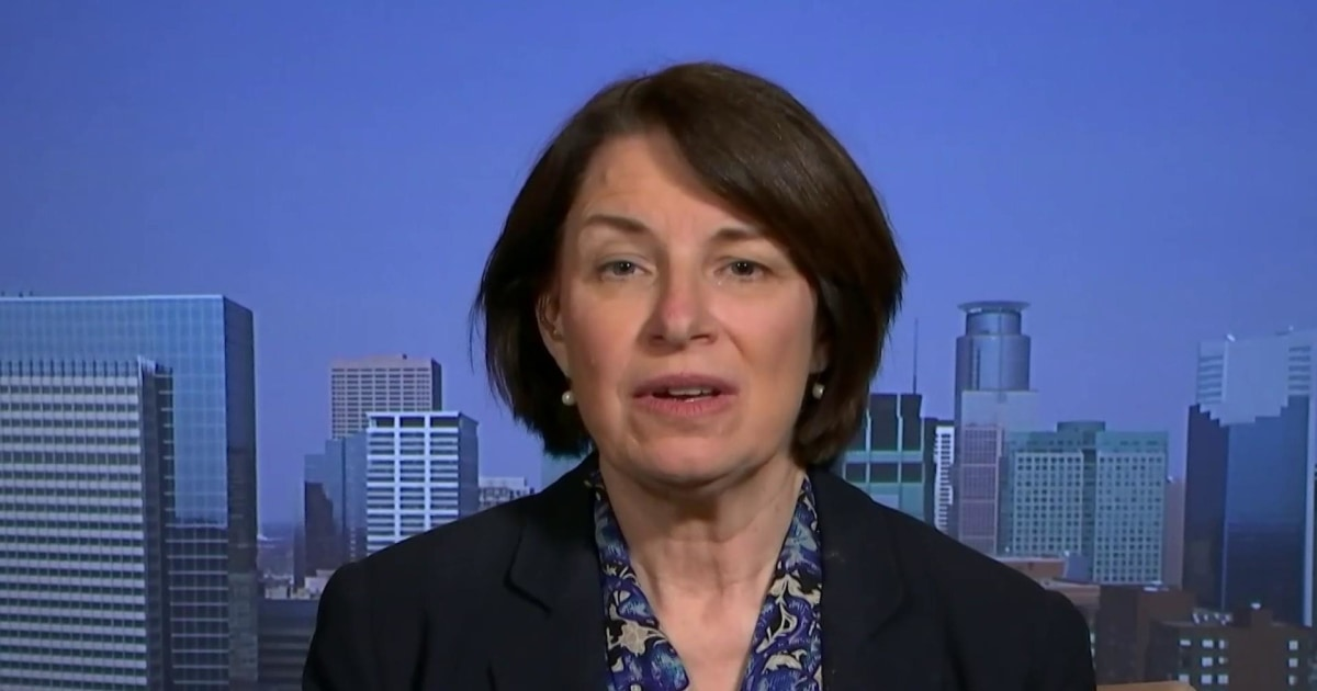 'Can't discuss politics right now': Klobuchar on speculation of her VP chances