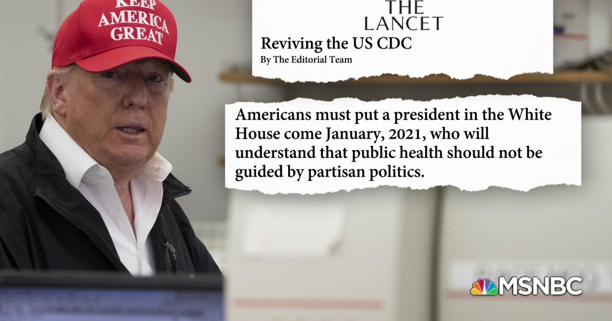 Prominent medical journal issues rare call to vote out Trump