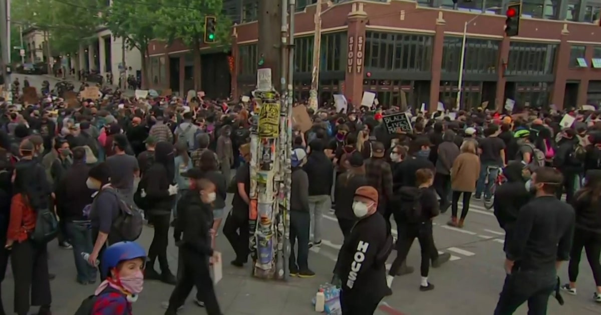 Peaceful protests in Seattle as Gov. Jay Inslee blasts Trump