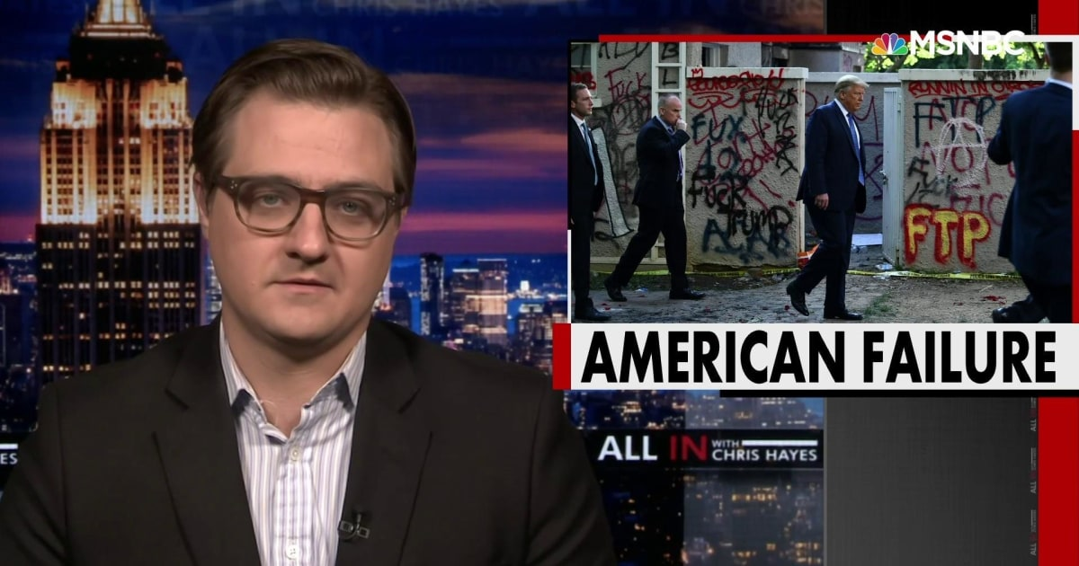 Chris Hayes: Trump's attempts to project strength and domination are not working