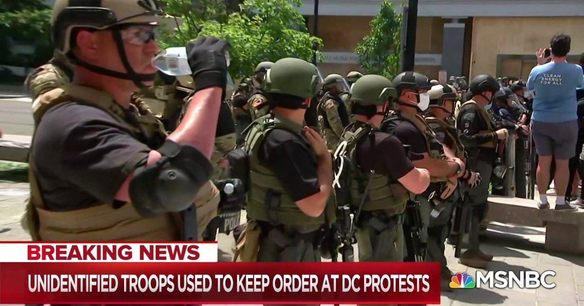 Unidentified, armed federal troops raise accountability concerns