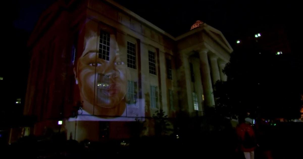 Louisville artist creates projection of Breonna Taylor