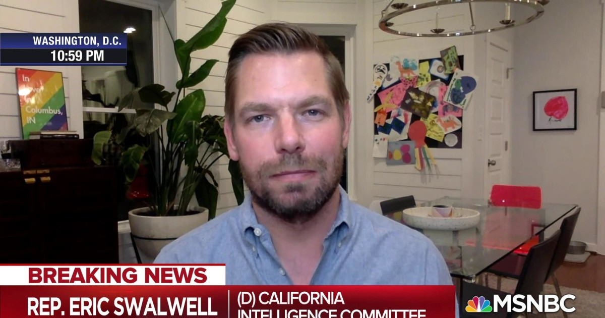 Rep. Swalwell: Congress' job until Election Day is to be 'ankle monitor' on Trump administration