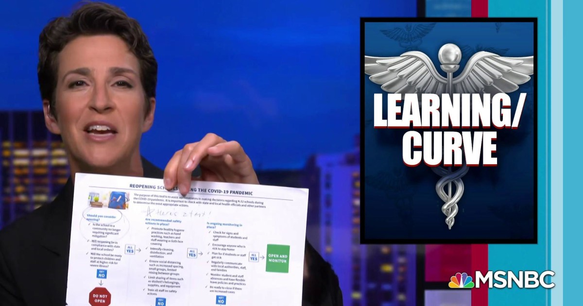 White House hijacks CDC guidelines for school reopenings
