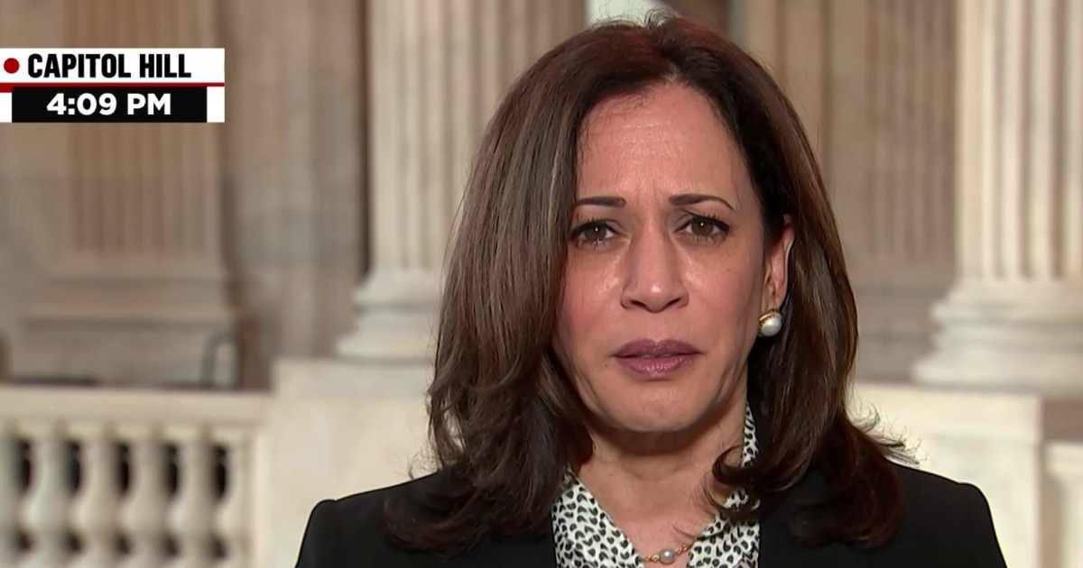 Sen. Harris says the president calling things a hoax is a 'consistent theme of his,' and we 'should never be distracted by that'