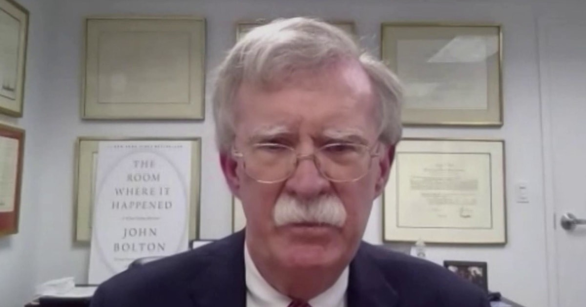 Bolton says he will 'write in somebody' rather than voting for Biden or Trump in 2020 election thumbnail