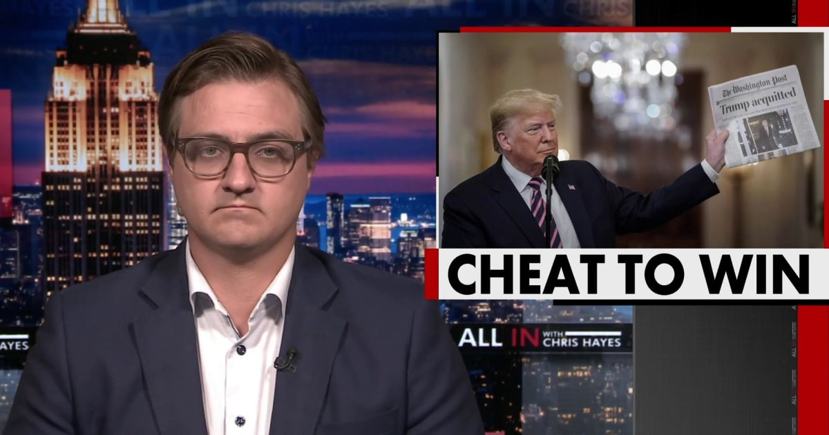 Chris Hayes: In every aspect of his life, Donald Trump is a cheater