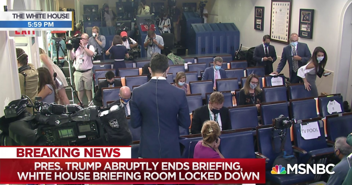 Watch the moment President Trump abruptly ends briefing and leaves briefing room