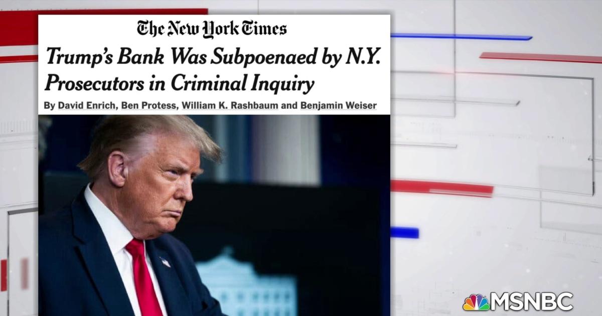Deutsche Bank turned Trump financial documents over to Manhattan DA
