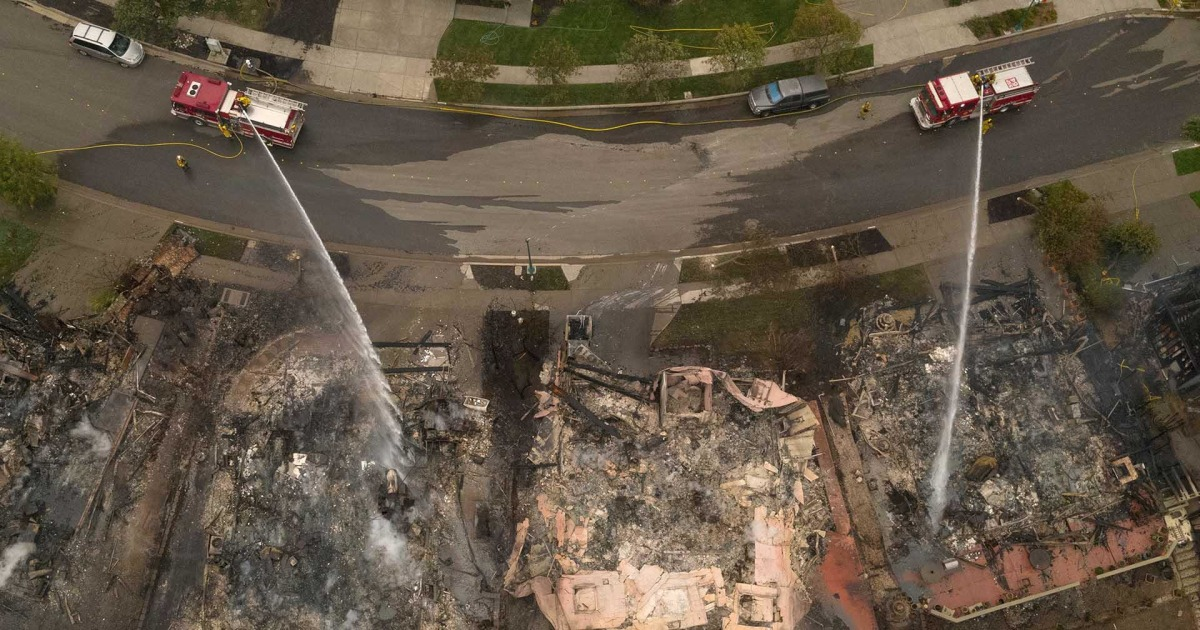 Drone video reveals Glass Fire devastation in northern California thumbnail