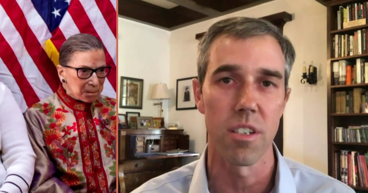 'Justice Ginsburg would've said don't be angry, get to work and take action': Beto O'Rourke on the legacy of late Justice
