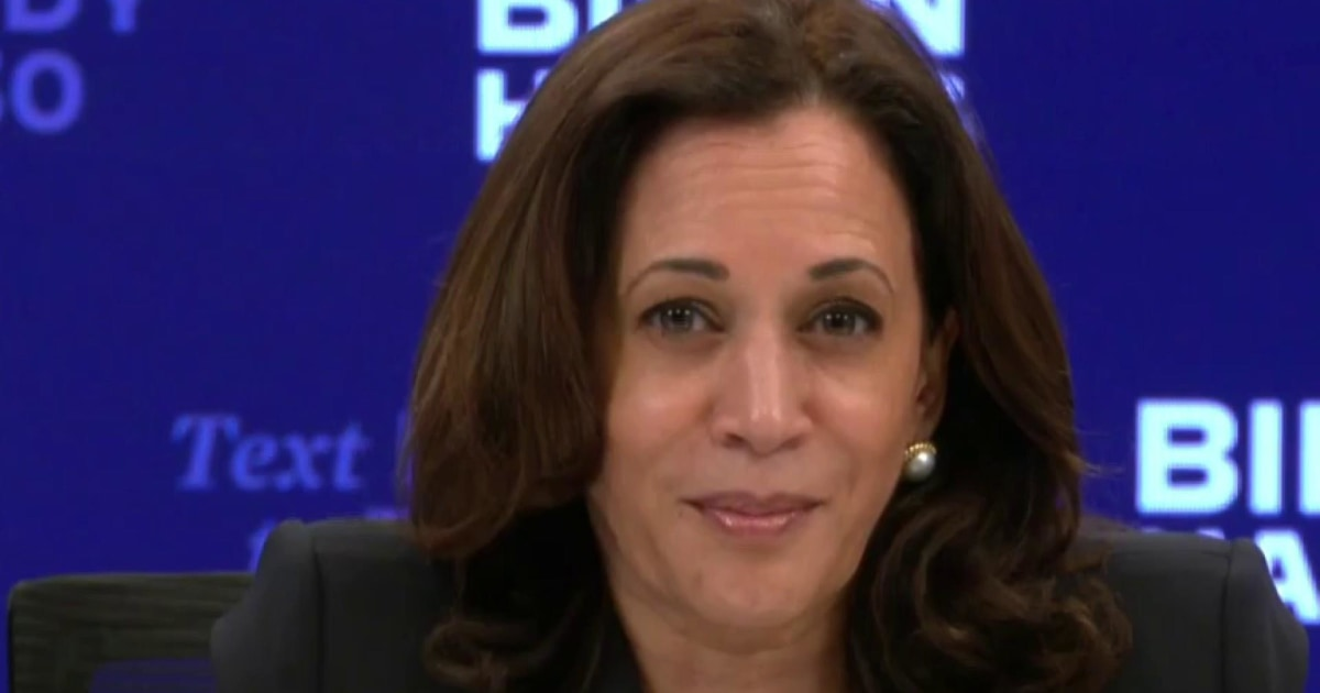 Kamala Harris blasts Trump for rejecting climate change science