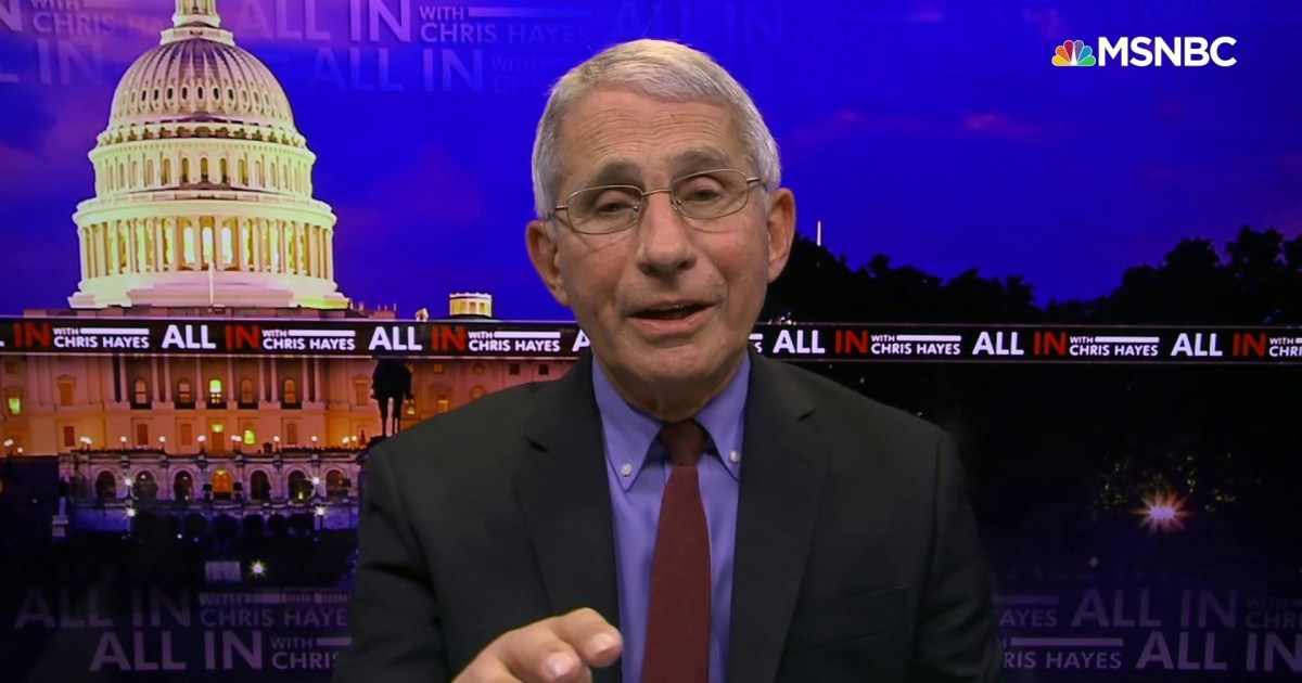 Dr. Fauci says he will raise flags if corners are cut on Covid-19 vaccine