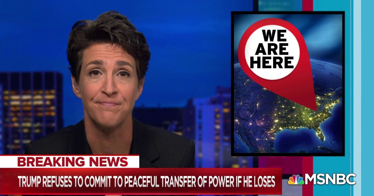 Maddow: What you would do when your country needed you is what you're doing right now.