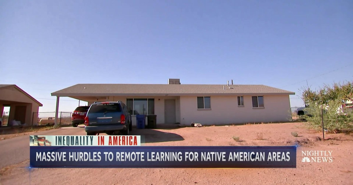 Underfunded Native American communities struggle with remote learning