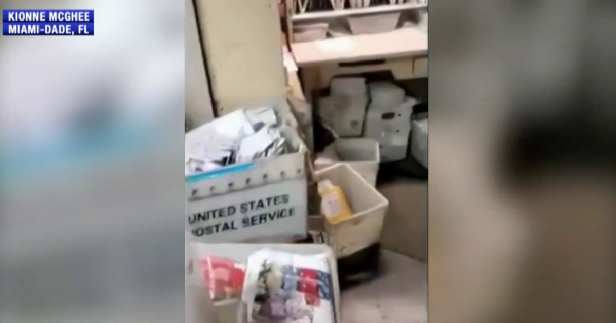 Video shows mail piled up at Florida post office as Election Day nears