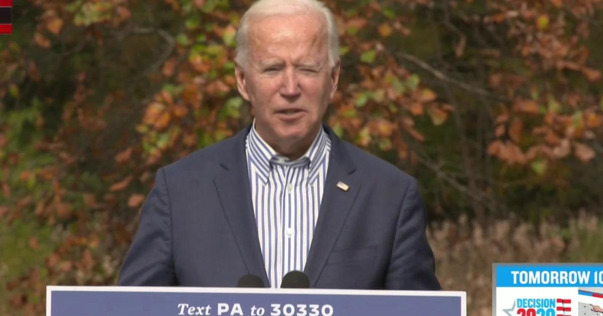 Biden: 'I'm not banning fracking in Pennsylvania or anywhere else'