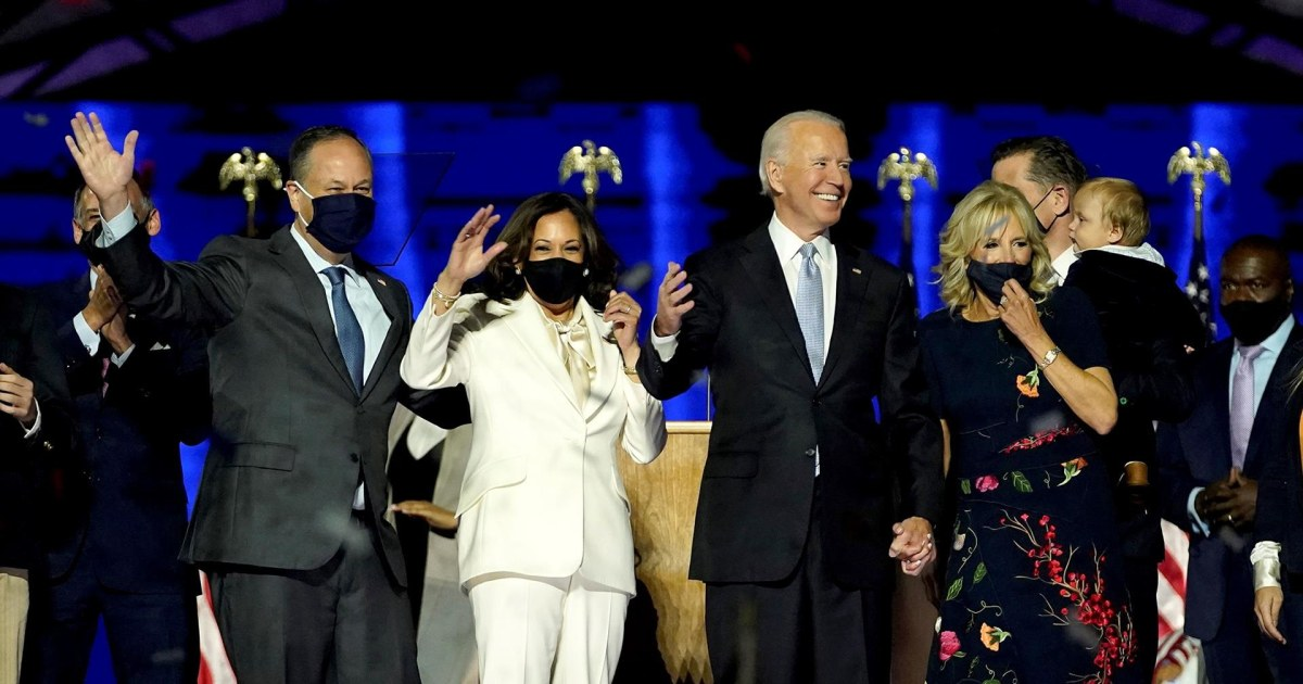 Highlights from Biden and Harris' victory speeches (fireworks included)