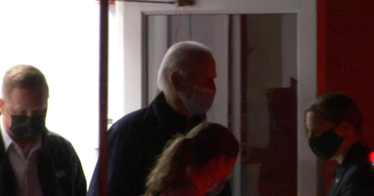 Joe Biden leaves doctor's office after suffering hairline fracture in foot