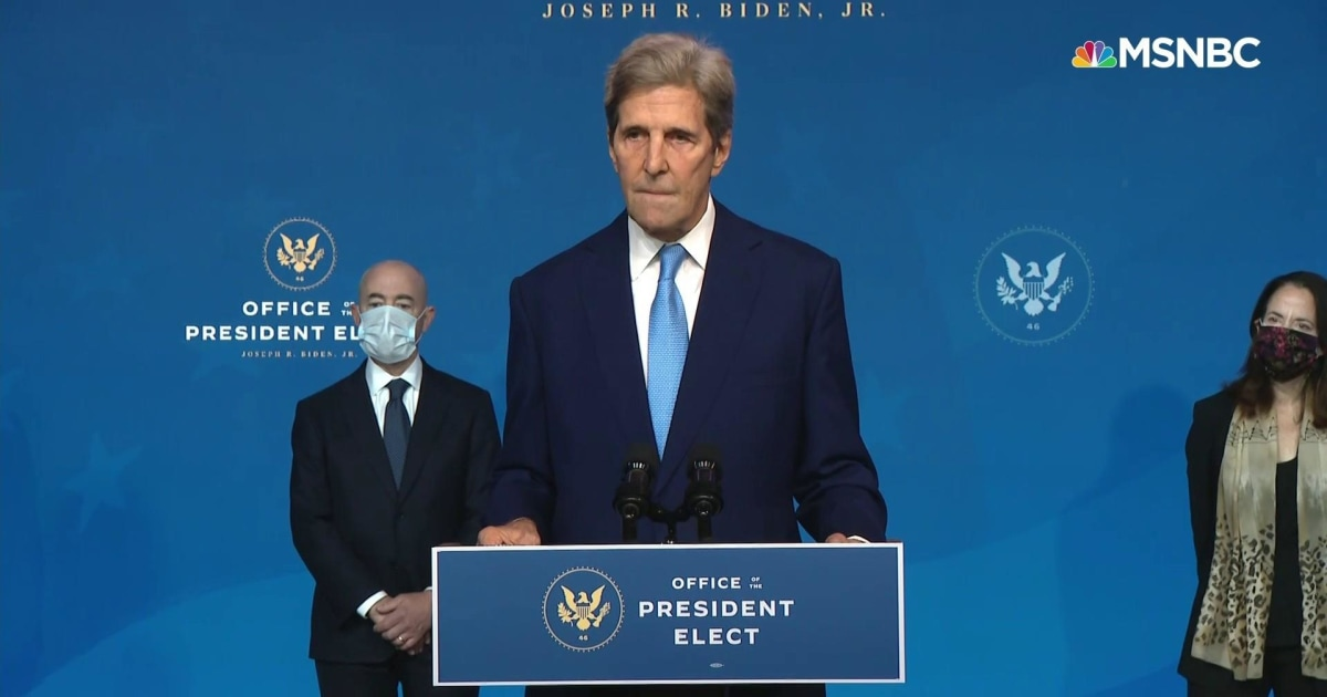 John Kerry: The climate crisis is now in the...