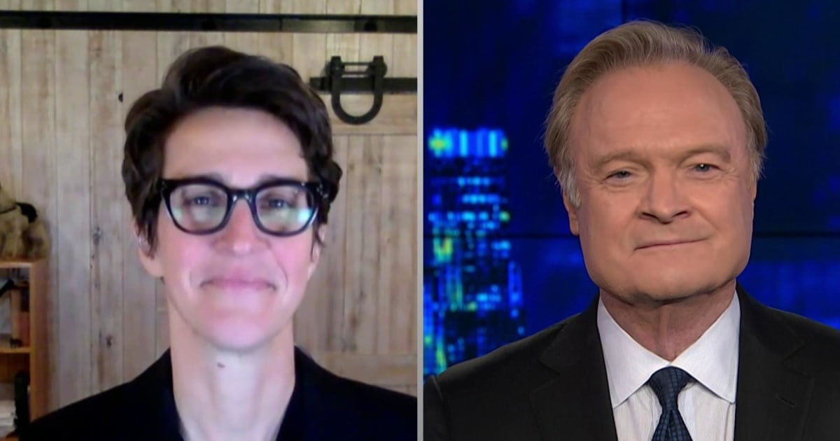 Lawrence O'Donnell thanks Rachel Maddow for her powerful Covid-19 message