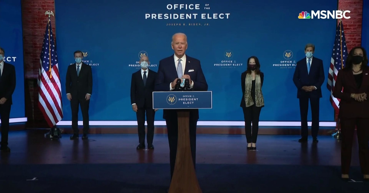Biden transition event disorienting for its competence, normalcy