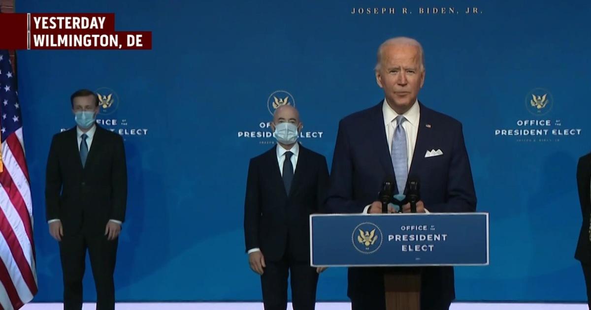 President-elect Biden announces his cabinet picks