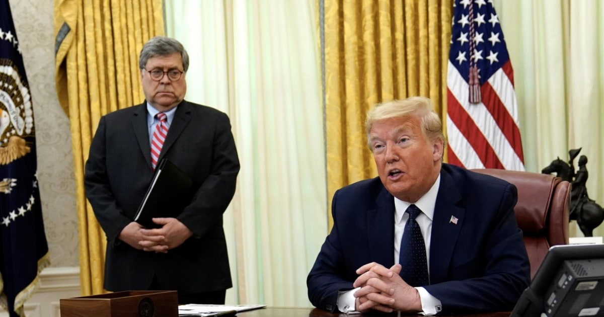 Barr won`t back Trump election attacks as pardon...