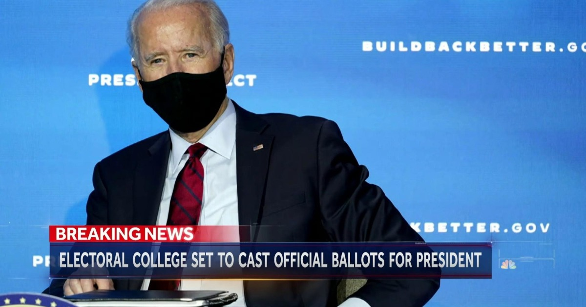 Electoral College to confirm Biden victory on Monday