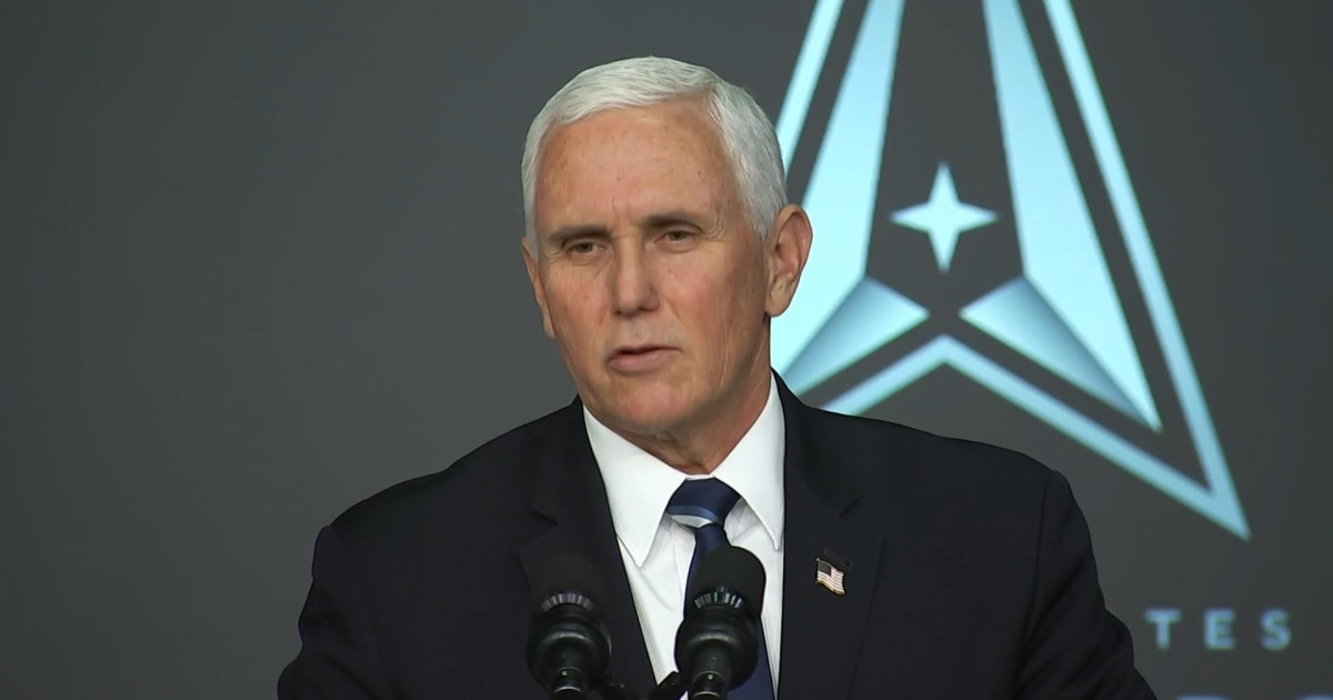 Pence announces Space Force members will probably be known as'guardians' thumbnail