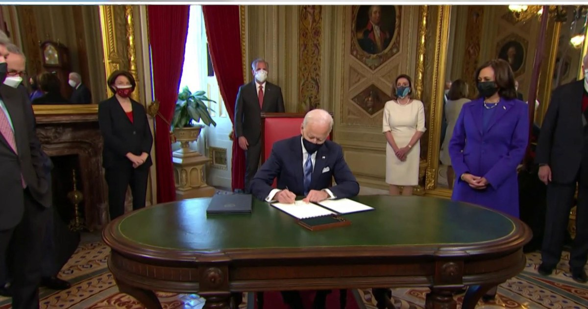 Biden to sign 10 executive actions into law on second day of presidency