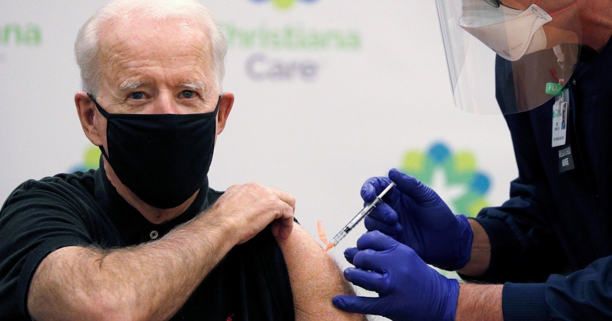 WATCH: Biden receives second Covid vaccine dose