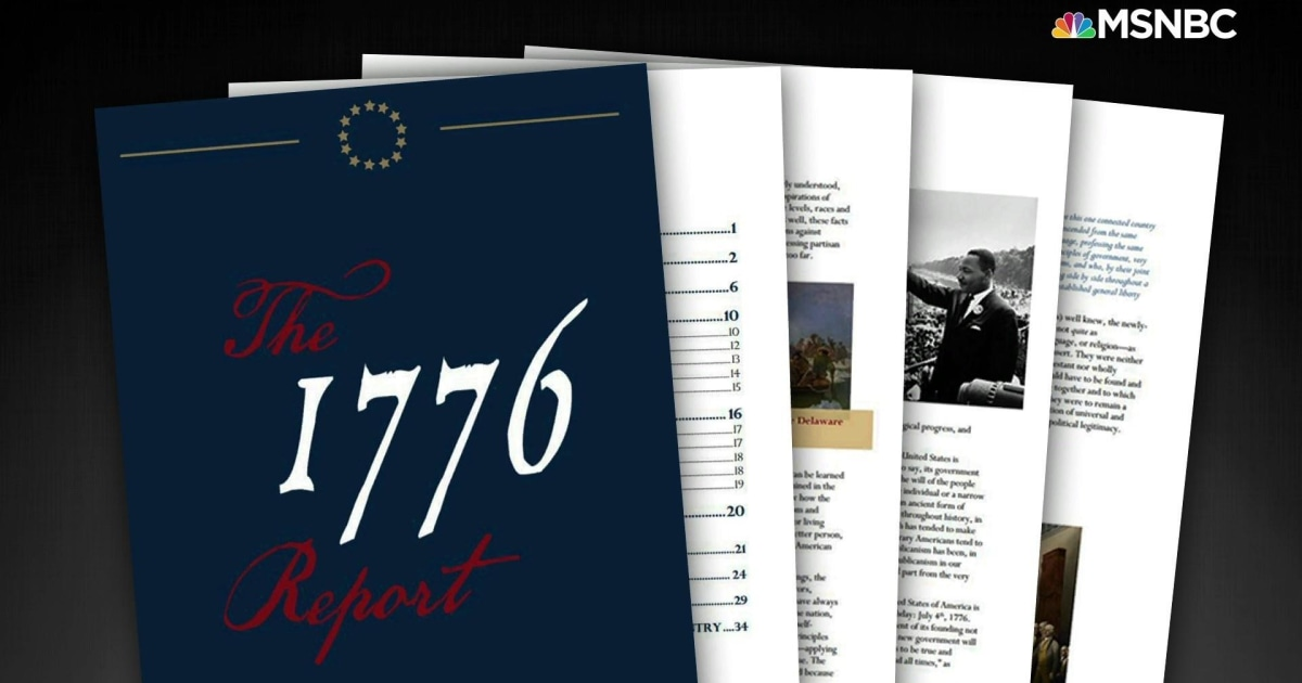White House releases '1776 Report' that tries to erase legacy of slavery